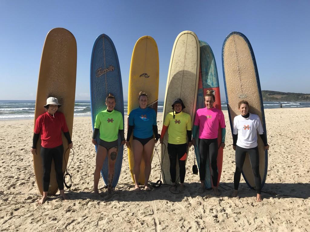 Ladies Finalists Lennox Longboard Classic 2018