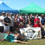Lennox Longboarders Club April 2010 group shot.