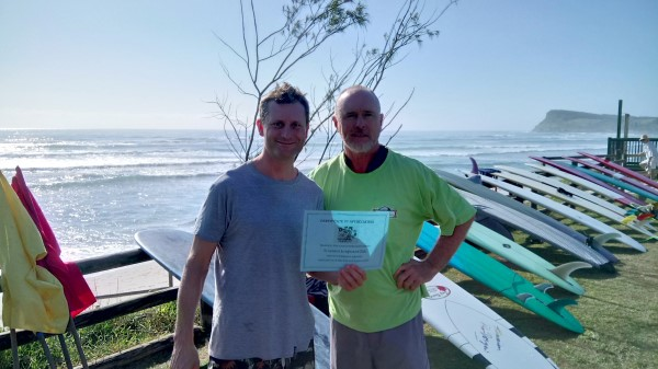 Presentation of Certificate from The Disabled Surfers Association