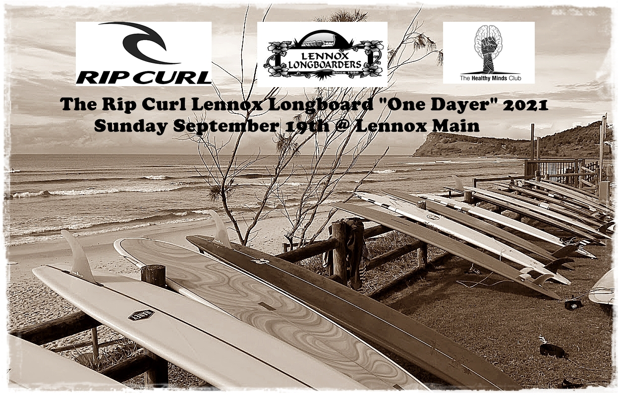 The RIP CURL Lennox Longboard One Dayer 2021 poster